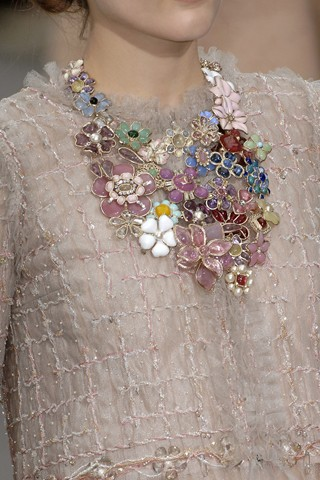 Chanel Floral Cluster Necklace